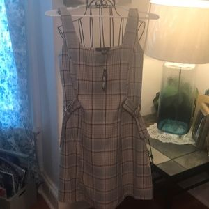 Primark pinafore plaid dress NWT